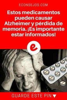 Medicamentos peligrosos | Estos medicamentos pueden causar Alzheimer y pérdida de memoria. ¡Es importante estar informados! | Es muy importante conocer siempre los efectos secundarios que un medicamento puede tener.