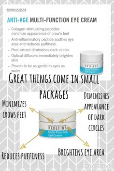 Multi-Function Eye Cream   | - Did you know the skin around your eyes is the thinnest skin on the your body & it's also the first place that shows signs of aging! Our Multi-Function Eye Cream uses powerful peptides to minimize & reduce the appearance of crow's feet, dark circles, and puffiness.One jar can last 5-6 MONTHS!Learn more: https://www.pinterest.com/ekrodanfields/     Questions/Contact us: http://ekphotovideo.com/ekrodanfields     Order products: https://ekstudios.myrandf.com…