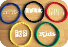 Winter Olympic Games and crafts For Kids Series