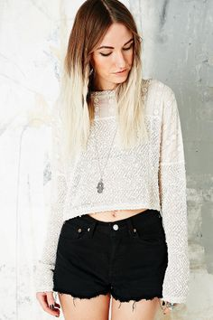 Staring at Stars Mexican Mix Cropped Sweater