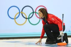 Eve Muirhead of Great Britain looks on during the women's semifinal match between Great Britain and Canada (c) Getty Images