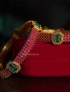 Blouse Back Neck Designs, Gold Bangles Design, Gold Jewellery Design, Fancy Jewellery, Temple Jewellery, Jewelry Ads, Ruby Jewelry, Ear Jewelry, Bead Jewellery