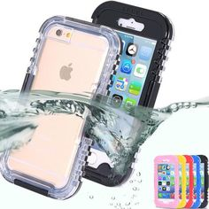 Waterproof Transparent Crystal Clear Case For iphone 6 Plus 5b07ca6f5b70