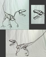 Dinosaur in Wire by chill13