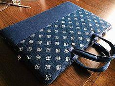 Na notebook - taška na notebook modrotlač - 6432993_
