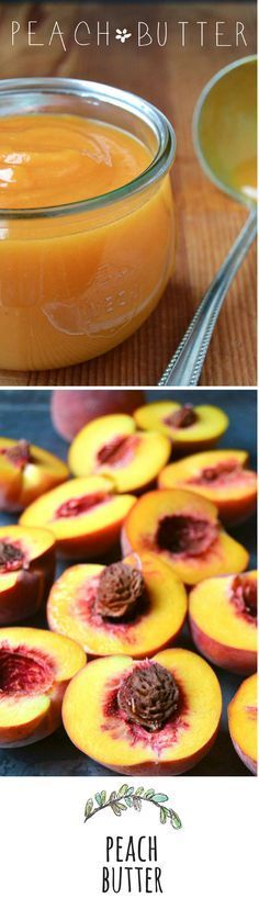 "Pure Peach Butter - this one uses little sugar cup); Sue chooses to use Lemon Juice to make the PEACH flavor ""pop"". TIP: if you like you could add some vanilla bean. ** You won't find a more intense peach flavor anywhere! Flavored Butter, Homemade Butter, Butter Recipe, Whipped Butter, Butter Sauce, Jam Recipes, Canning Recipes, Fruit Recipes, Jelly Recipes"