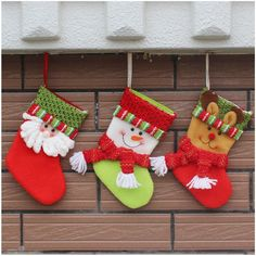 2017 New Christmas Candy Bag Stocking Christmas Decoration Santa Claus and elk Decoration for Christmas Non Woven Fabric Bag Felt Christmas Decorations, Christmas Gift Bags, Christmas Crafts, Santa Christmas, Christmas Candy, Vintage Christmas Stockings, Diy Stockings, 242, Kids Gifts