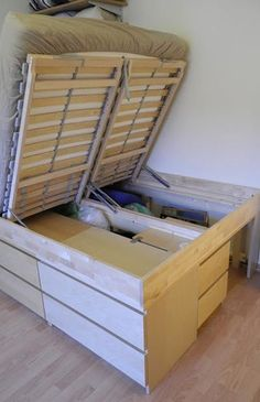 27. Stack Your Bed over a Hidden Storage Unit - The 50 Best Life Hacks of All Time | Complex