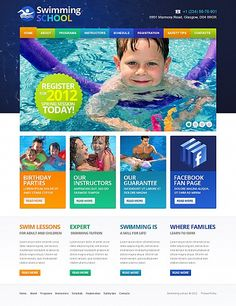 Swimming Swim Flash CMS Templates by Mercury