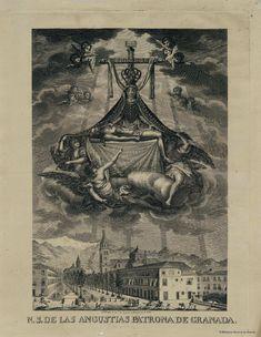 N.S. de las Angustias Patrona de Granada. Giraldos, Andrés 1781-1854 — Grabado — 1835