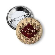 Marauders Map Harry Potter Inspired 1 Pinback by ProjectPinup