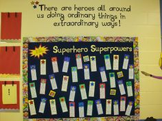 kids write good qualities about each other..when bulletin board goes down, each kid gets a bookmark!