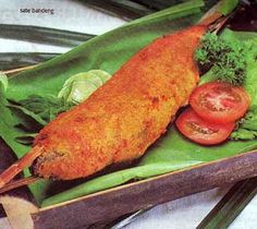 Sate Bandeng Daun Pisang - Milk Fish Satay wrapped with banana leaf
