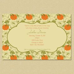 Little Pumpkin On the Way Baby Shower by InspiredDesigns22 on Etsy, $10.00