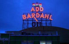 Seattle's neon signs pierce the winter darkness - seattlepi.com