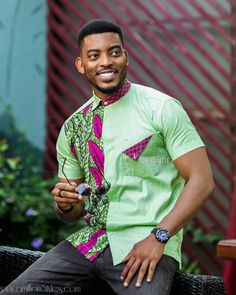 7 Hawt Male Styles For Your Man African Wear Styles For Men, African Shirts For Men, Ankara Styles For Men, African Dresses For Kids, African Clothing For Men, African Print Dresses, African Inspired Fashion, African Men Fashion, African Fashion Dresses