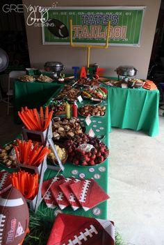 Football tailgate birthday party ideas photo 3 of 52 catch my party. Football Banquet, Football Tailgate, Football Snacks, Football Themes, Football Birthday, Sports Birthday, Sports Party, Football Season, Football Parties