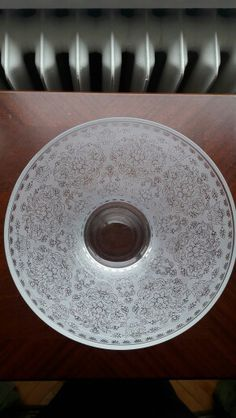 Etched Glass/damask/big bowl