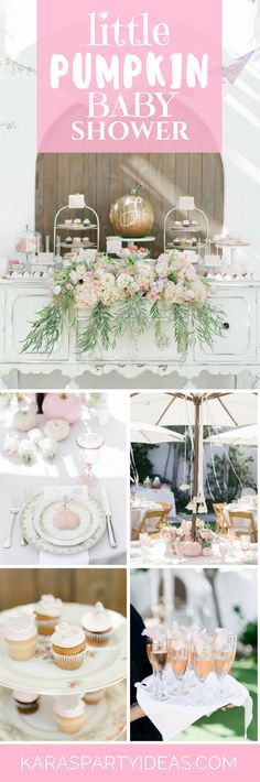 Sep 2019 - Pretty pink pumpkins and florals to boot, this Little Pumpkin Baby Shower at Kara's Party Ideas is too, too, cute! Cheap Baby Shower, Baby Shower Bingo, Baby Shower Fall, Baby Shower Favors, Baby Shower Themes, Baby Boy Shower, Baby Shower Decorations, Shower Ideas, Little Pumpkin Shower