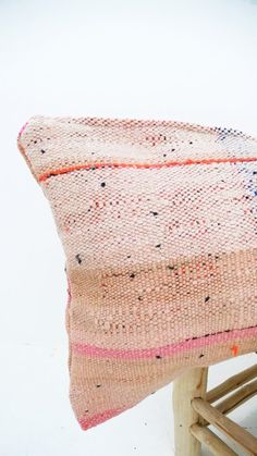 Moroccan Kilim pillow cover pink by lacasadecoto on Etsy