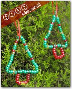 Kid made bead ornaments