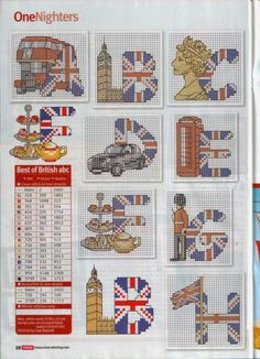 British uk cross stitch chart pattern alphabet 2 of 4 street party Cross Stitch Letters, Mini Cross Stitch, Cross Stitch Charts, Cross Stitch Designs, Embroidery Alphabet, Embroidery Patterns, Stitch Patterns, Cross Stitching, Cross Stitch Embroidery
