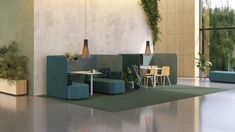 PodMeeting Cove by the Design Studio offers several options for short-term working and meeting in an activity based office. Office Furniture, Home Furniture, Furniture Design, Office Sofa, Interior Concept, Interior Design, Space Dividers, Office Seating, Conference Table