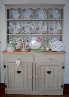 Shabby Chic Hand Painted Solid Pine Country Farmhouse Kitchen Dresser