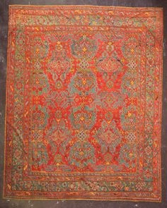 Persian Distressed Rug 8x13 Wool Handmade Muted Floral Oriental Area Rug Rust Reliable Performance Rugs & Carpets Antiques