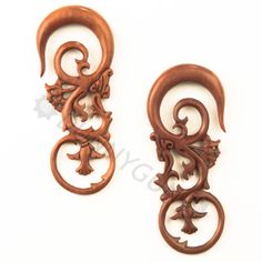 2G Pair Red Saba Floras Organic Hand Carved Body Piercing Jewelry 2 Gauge Wood Plugs Earrings on Etsy, $39.77 CAD