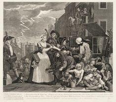 William Hogarth, 'A Rake's Progress (plate 4)' - Arrested for debt
