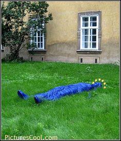 Prague, Czech Republic. Monument to thrown down Europe in the yard of Prague University.