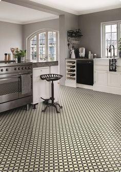 victorian tile design vinyl flooring sheet non slip lino kitchen