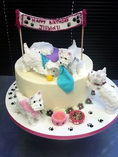 Westie Cake by Fluffy Thoughts Cakes, via Flickr
