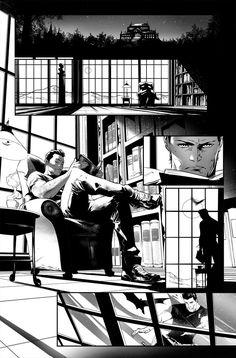 Black And White Comics, Black Comics, Bd Comics, Manga Comics, Comic Book Artists, Comic Artist, Comic Books Art, Bd Cool, Comic Book Layout