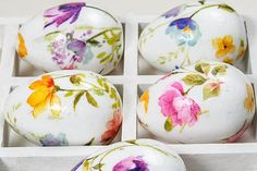Easter Eggs. French Country Cottage Easter Home Decor. Set of