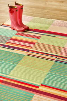 Bauhaus Bright: X metres. Please note that, as these printed rugs are mad.