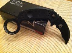 Fox Knives Derespina Folding Karambit Knife N690Co Vandium Stainless FOX 590 #FoxKnives
