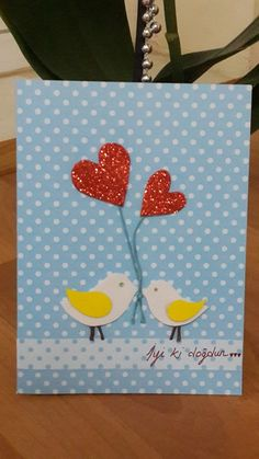 Masal Yıldızı: Aşık Kuşlar Temalı Tebrik Kartı ♥