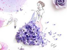 ilustração com flores11