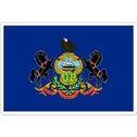 State Of Pennsylvania - Vinyl Flag Sticker