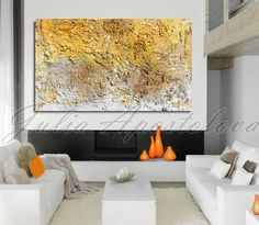 """#Original #Art 48"""" #Large #Abstract #Painting #Sculpture #Wall #Gold #Brown #Copper #White #MixedMedia #Readytohang #Rich #UniqueTexture #JuliaApostolova"""