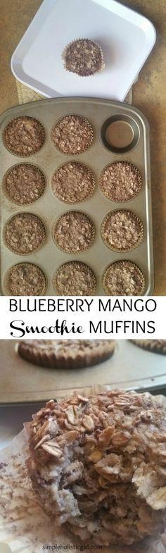 Blueberry Mango Smoothie Muffins