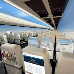 A windowless plane or a see-through plane? Either way, the UK revealed their vision for a potential airplane with no windows, projecting views from outside throughout the interior of the plane. Denise U.