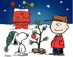 Charlie Brown Christmas! Paint all 4 objects on plywood and cut out to give a 3D effect on the front lawn. Would be beautiful when it snows!