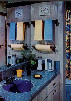Mid Century House, Mid Century Style, Bathroom Remodeling, Remodeling Ideas, Mid Century Bathroom, Vintage Interior Design, Vintage Bathrooms, Art Direction, Bubbles