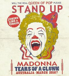 MADONNA AND TEARS OF A CLOWN – OH GOSH, NO!