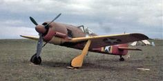 Color photograph of a German Focke-Wulf Fw 190A-5 captured by Allied forces in Tunisia, 1943. (U.S. Air Force Photograph.)