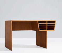 Italian Oak Desk 1940s