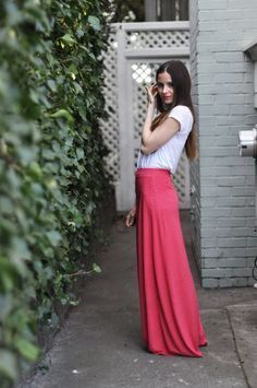 FREE A-Line Maxi Skirt Sewing Pattern and Tutorial